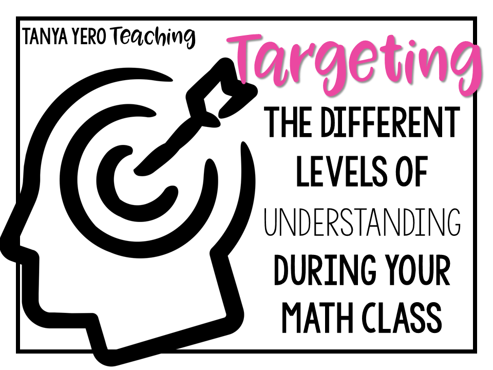 Targeting the Different Levels of Understanding in Your Math Class Bloom's Taxonomy