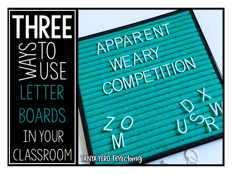 3 Ways to Use Letter Boards in the Classroom